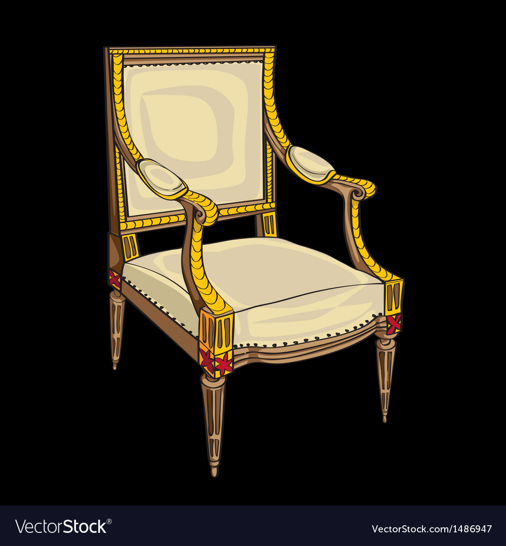 Classical style chair vector | Price: 1 Credit (USD $1)
