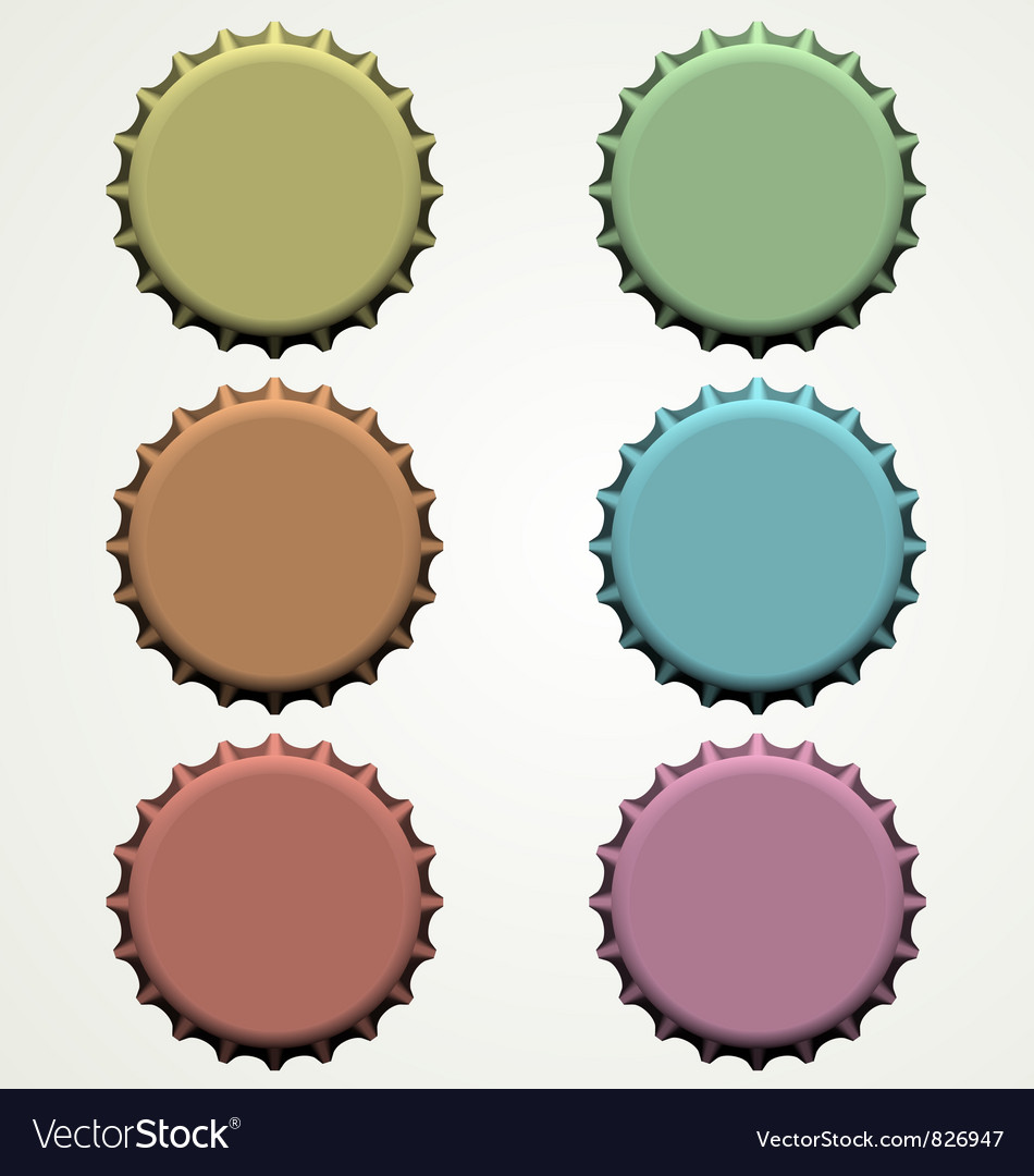 Colorful bottle caps vector | Price: 1 Credit (USD $1)