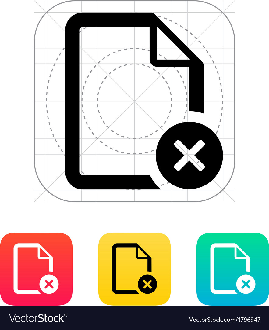Remove file icon vector | Price: 1 Credit (USD $1)