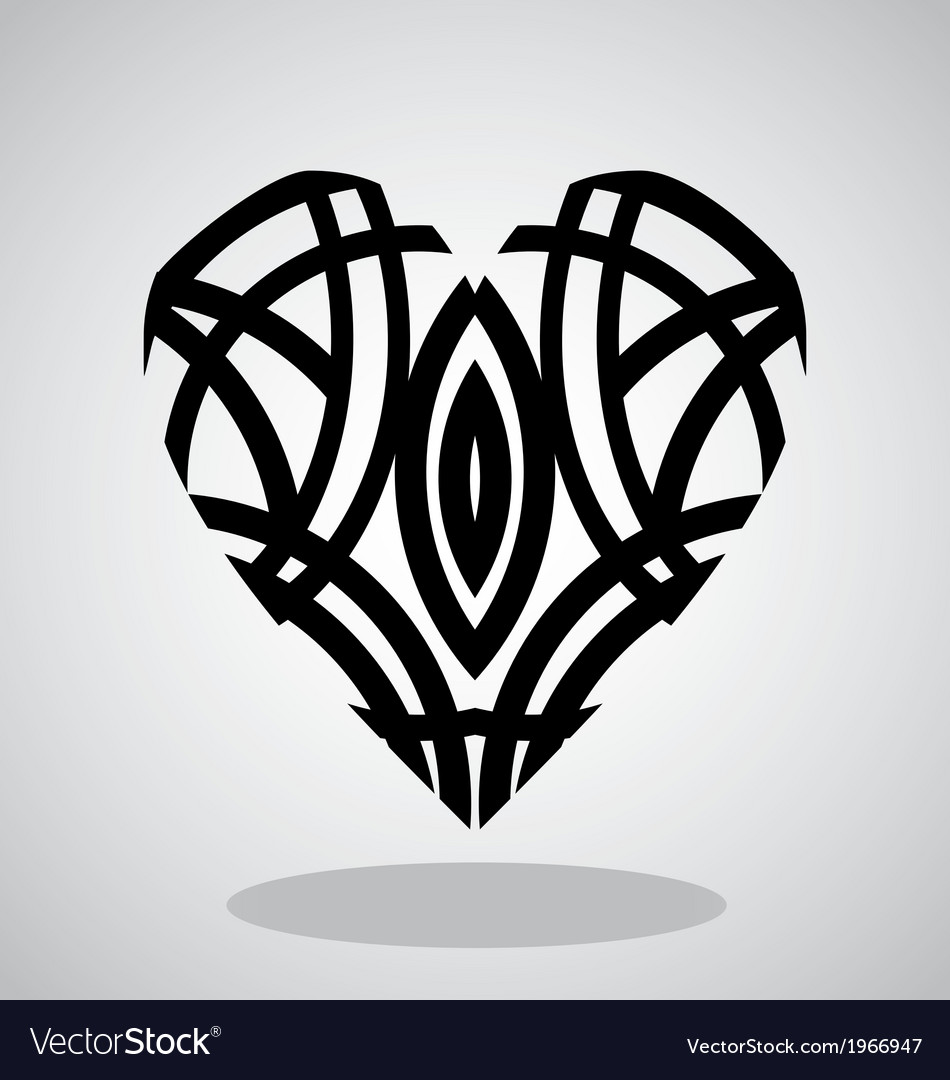 Tribal heart tattoo vector | Price: 1 Credit (USD $1)