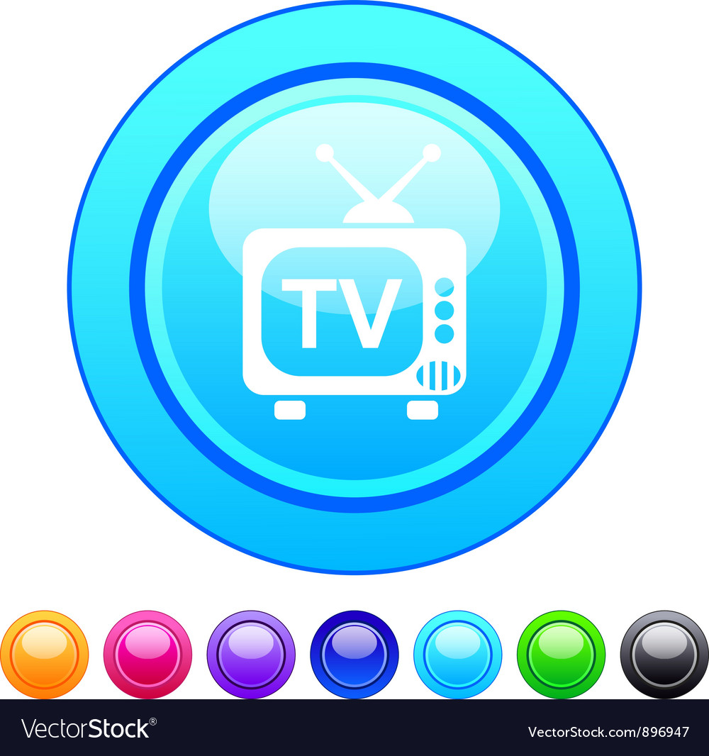 Tv circle button vector | Price: 1 Credit (USD $1)