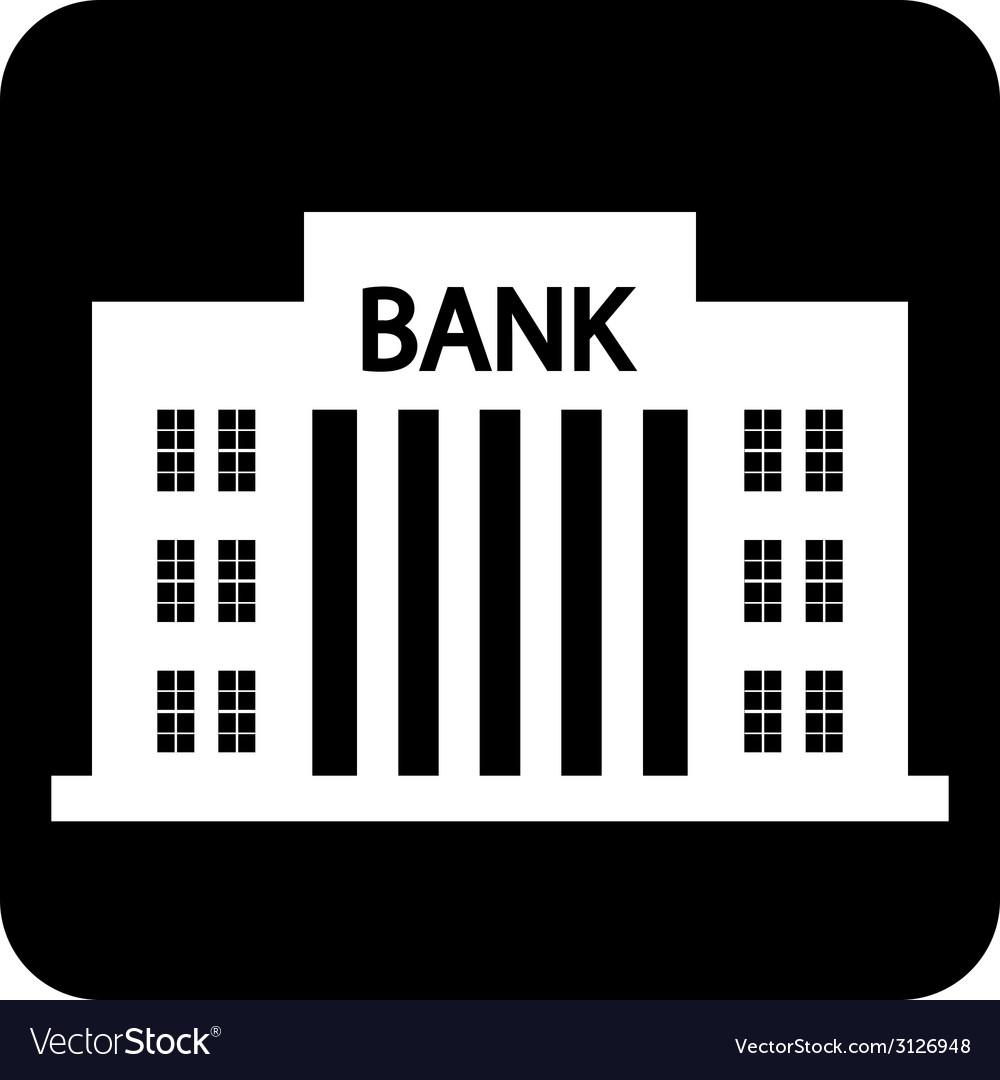 Bank symbol button vector | Price: 1 Credit (USD $1)