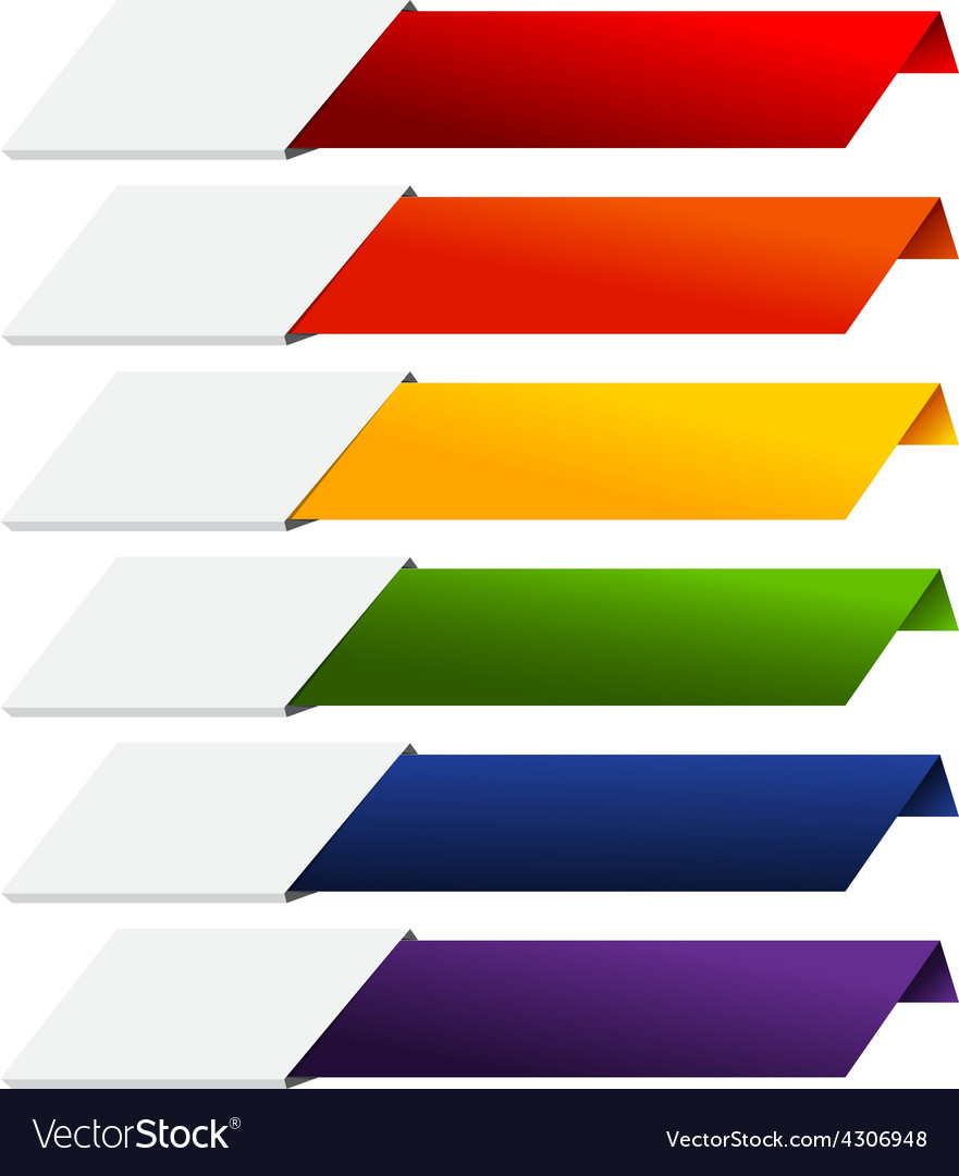 Blank infographics colorful rainbow paper stripe vector | Price: 1 Credit (USD $1)