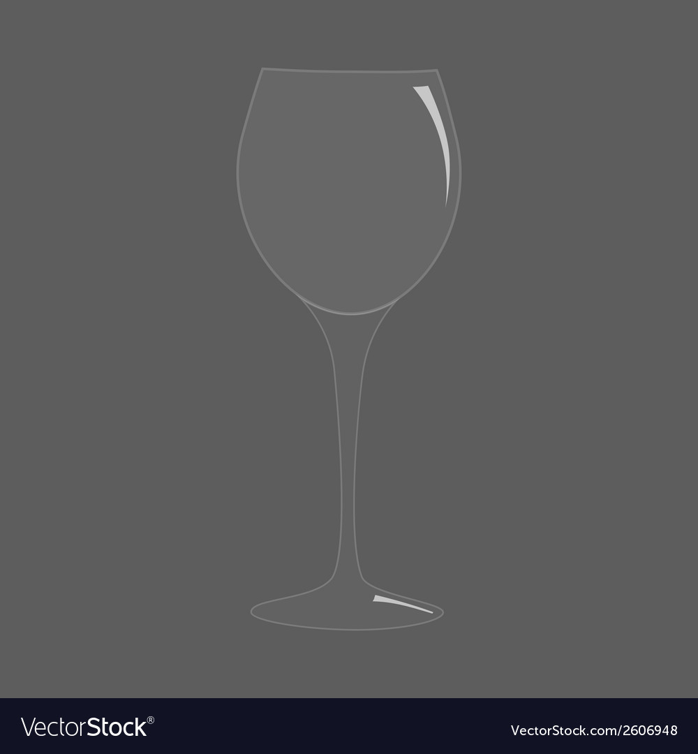 Blank tall transparent realistic wine glass vector | Price: 1 Credit (USD $1)
