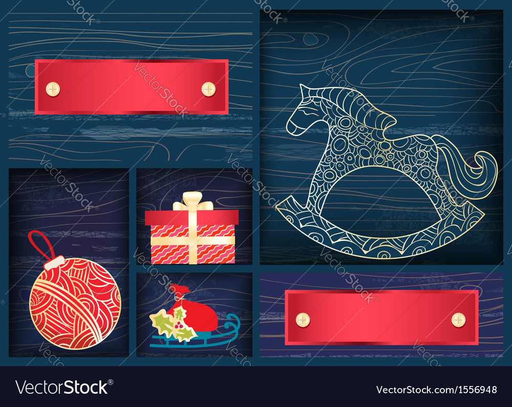 Box of christmas decorations vector | Price: 1 Credit (USD $1)