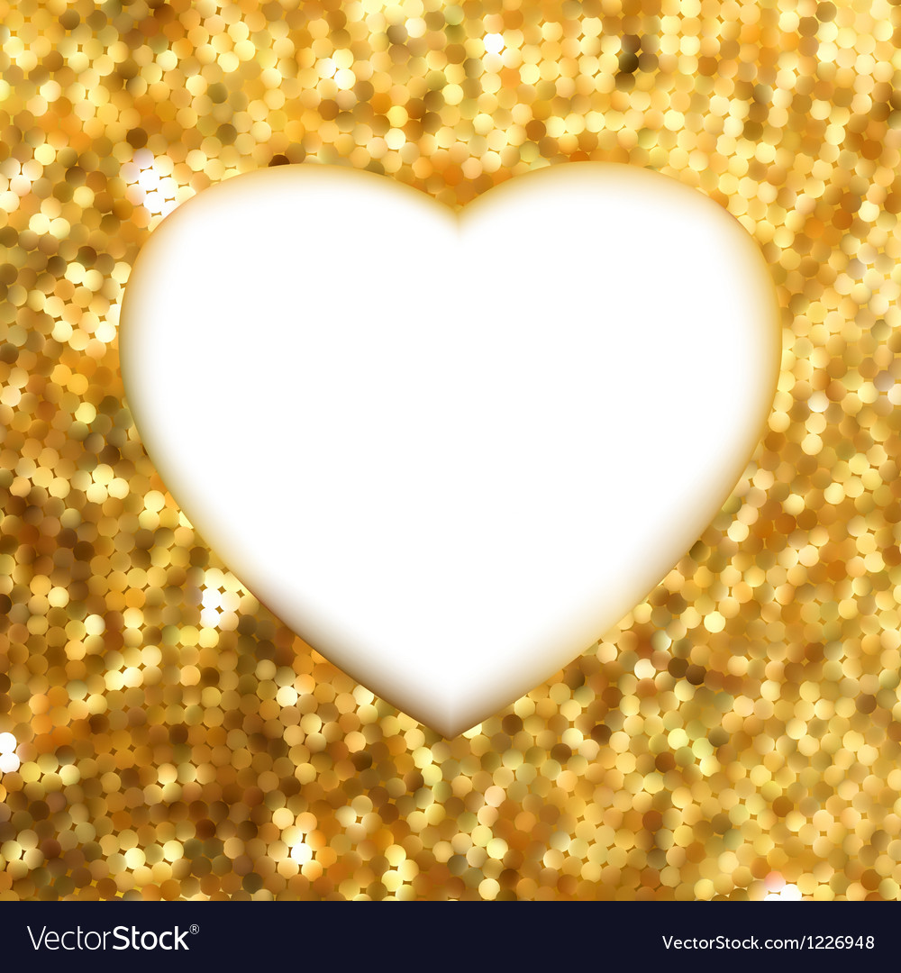 Gold heart frame vector | Price: 1 Credit (USD $1)