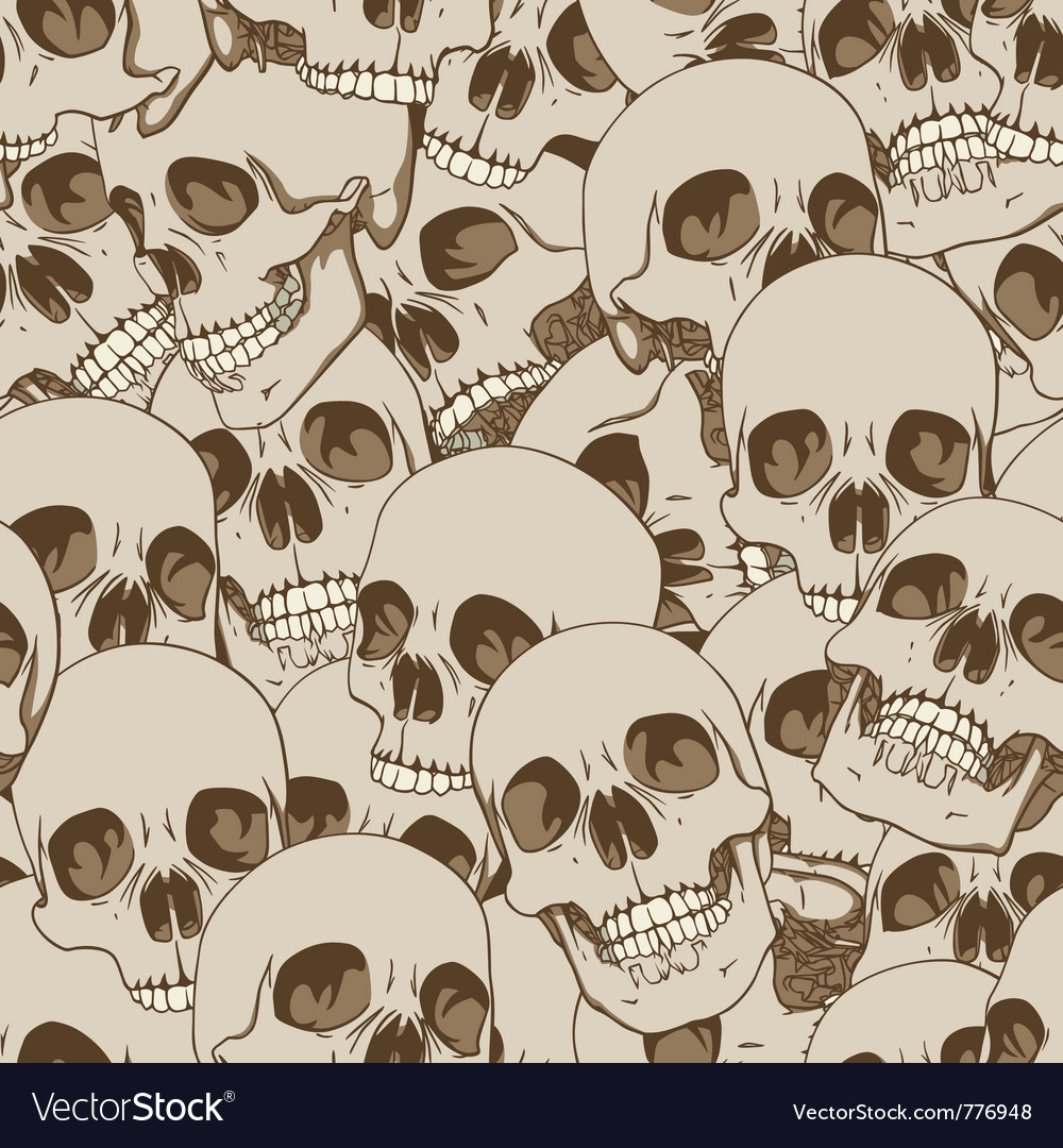 Human skulls seamless background vector | Price: 1 Credit (USD $1)