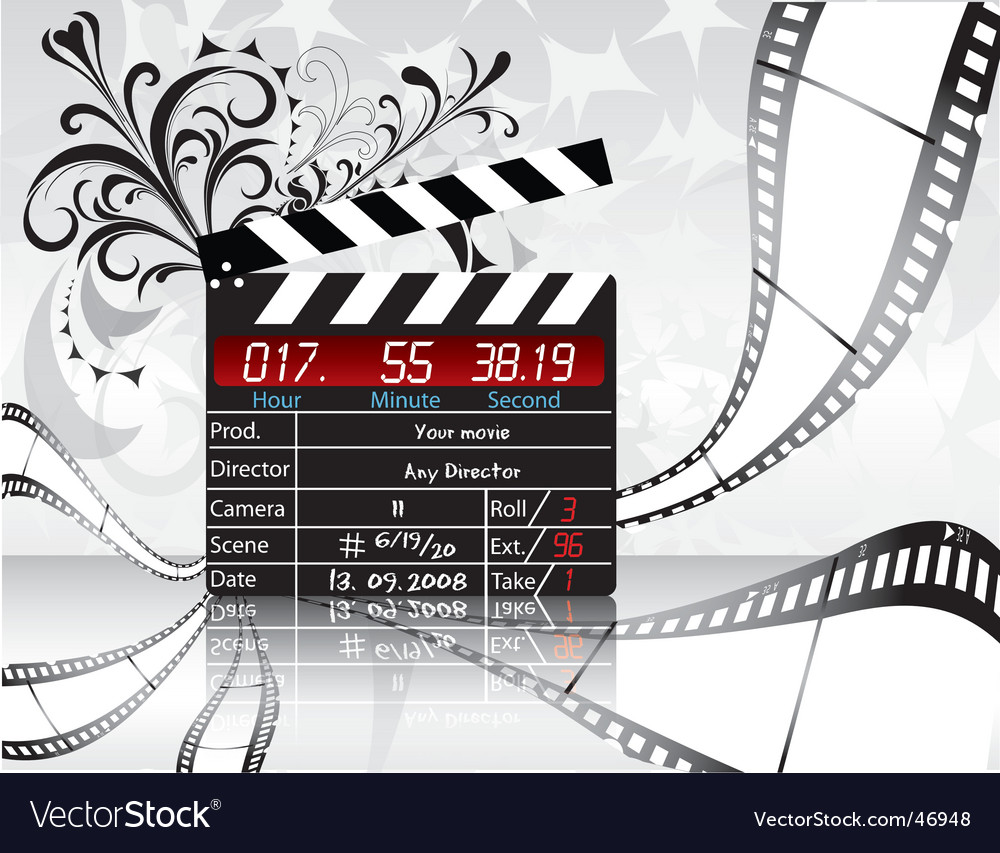 Movie director clapperboard vector | Price: 1 Credit (USD $1)