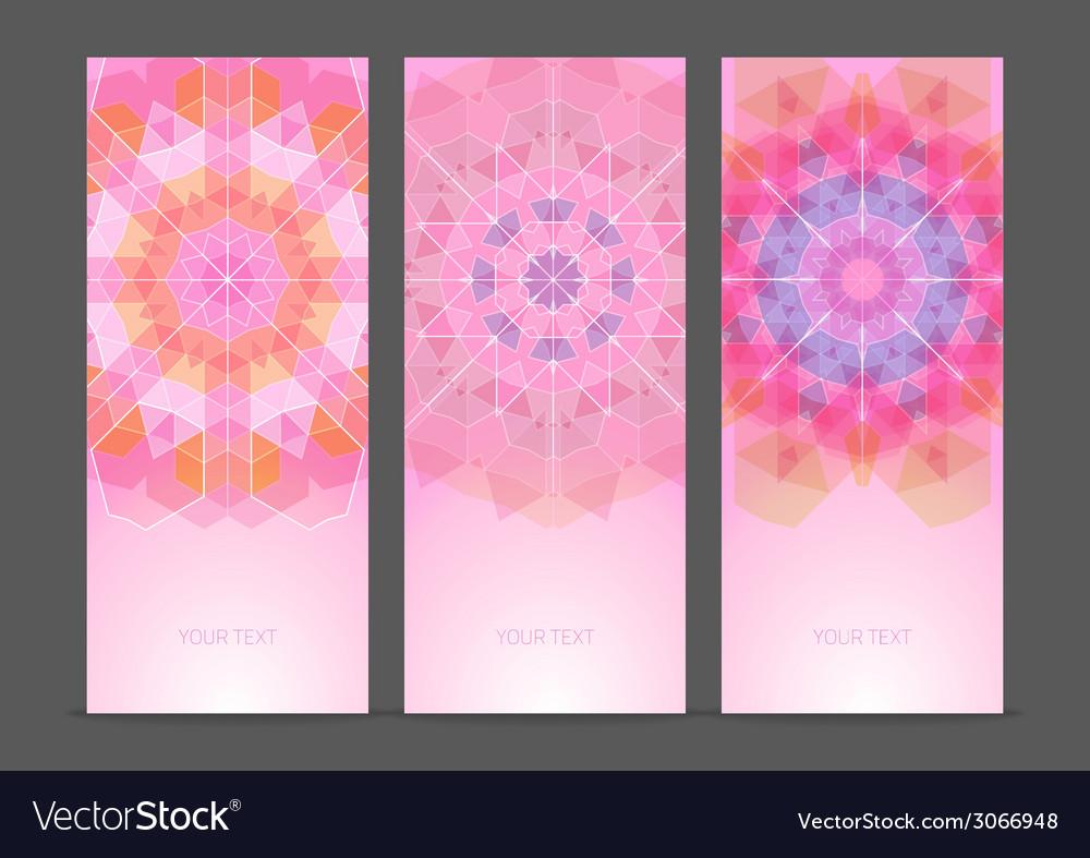 Set of geometric creative banners vector   Price: 1 Credit (USD $1)