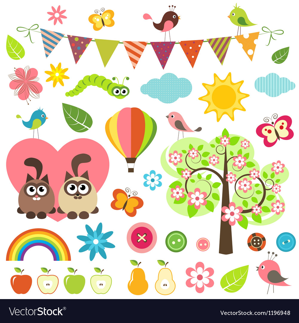 Spring set vector | Price: 1 Credit (USD $1)