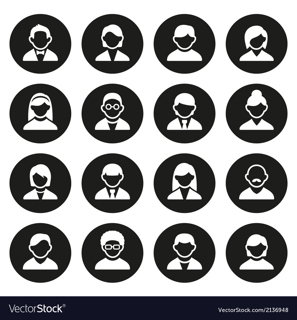 User icons set vector | Price: 1 Credit (USD $1)