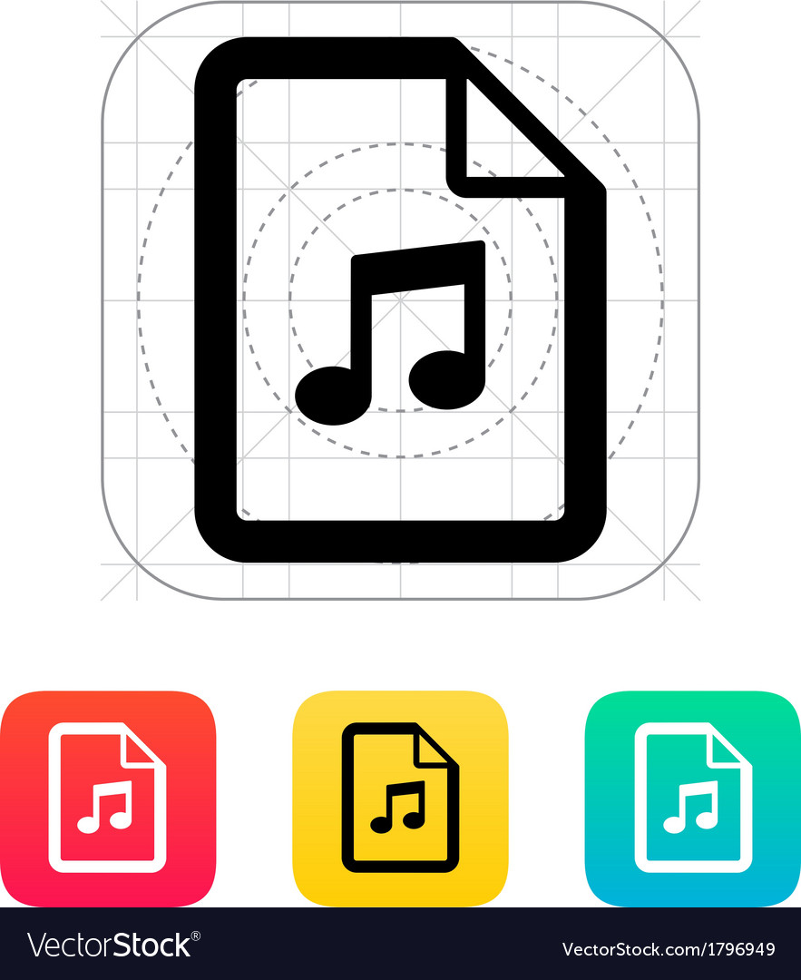Audio file icon vector | Price: 1 Credit (USD $1)