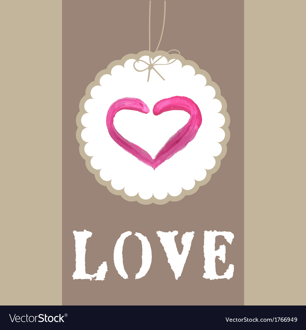 Beautiful greeting vintage valentines card with vector | Price: 1 Credit (USD $1)