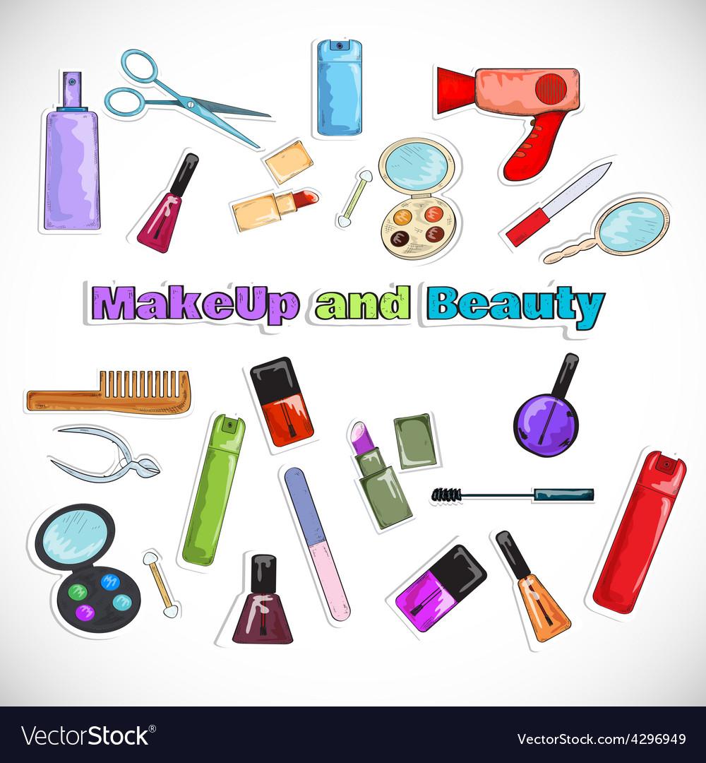 Beauty salon doodles vector | Price: 1 Credit (USD $1)