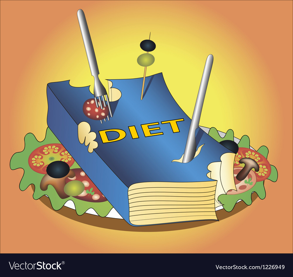 Book diet vector | Price: 1 Credit (USD $1)