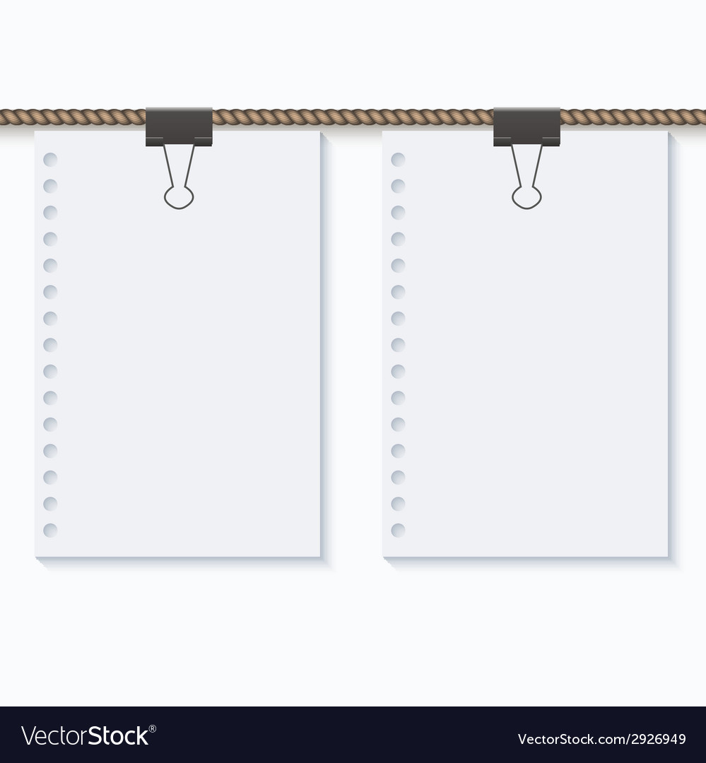 Concept rope with blank on white vector   Price: 1 Credit (USD $1)