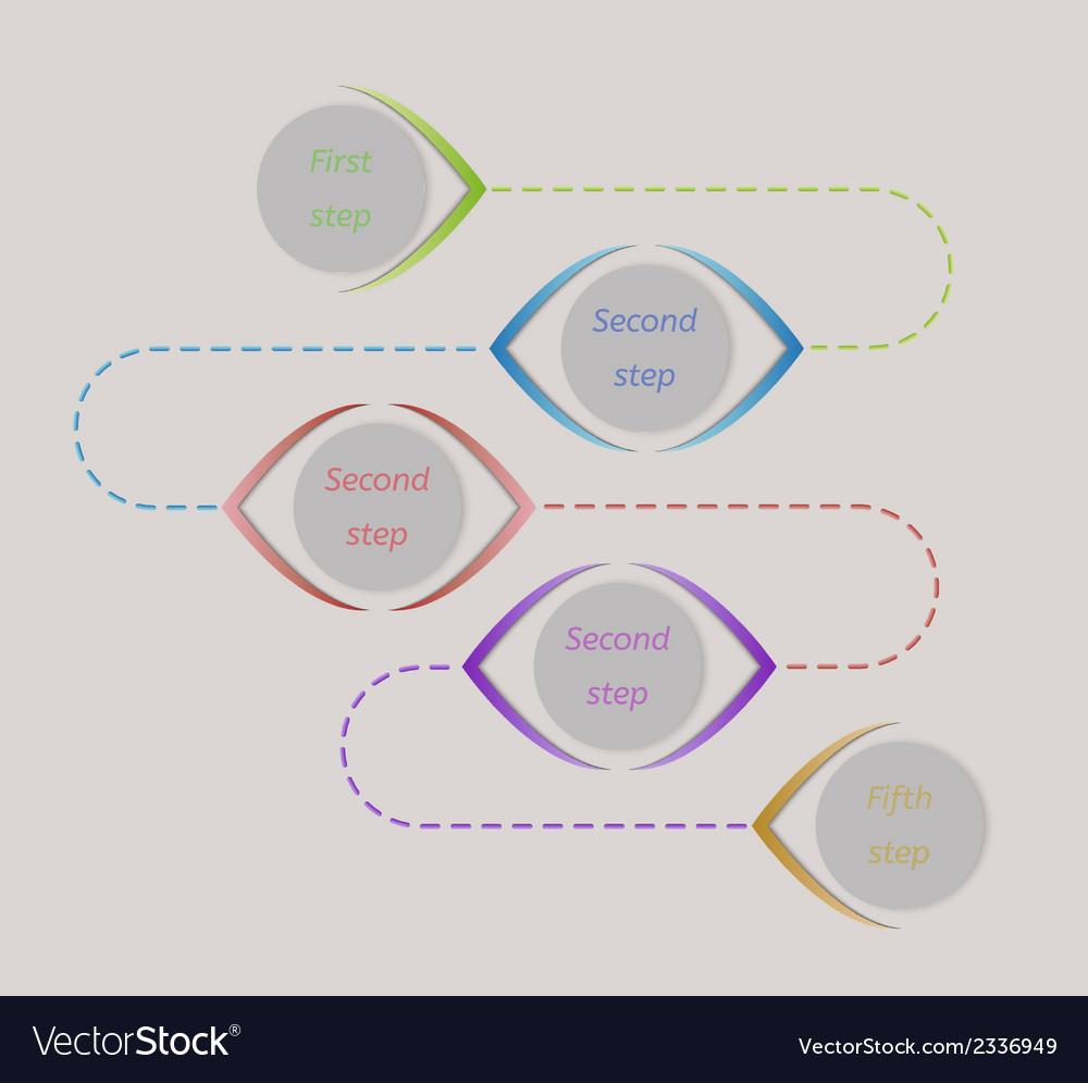 Five steps vector | Price: 1 Credit (USD $1)