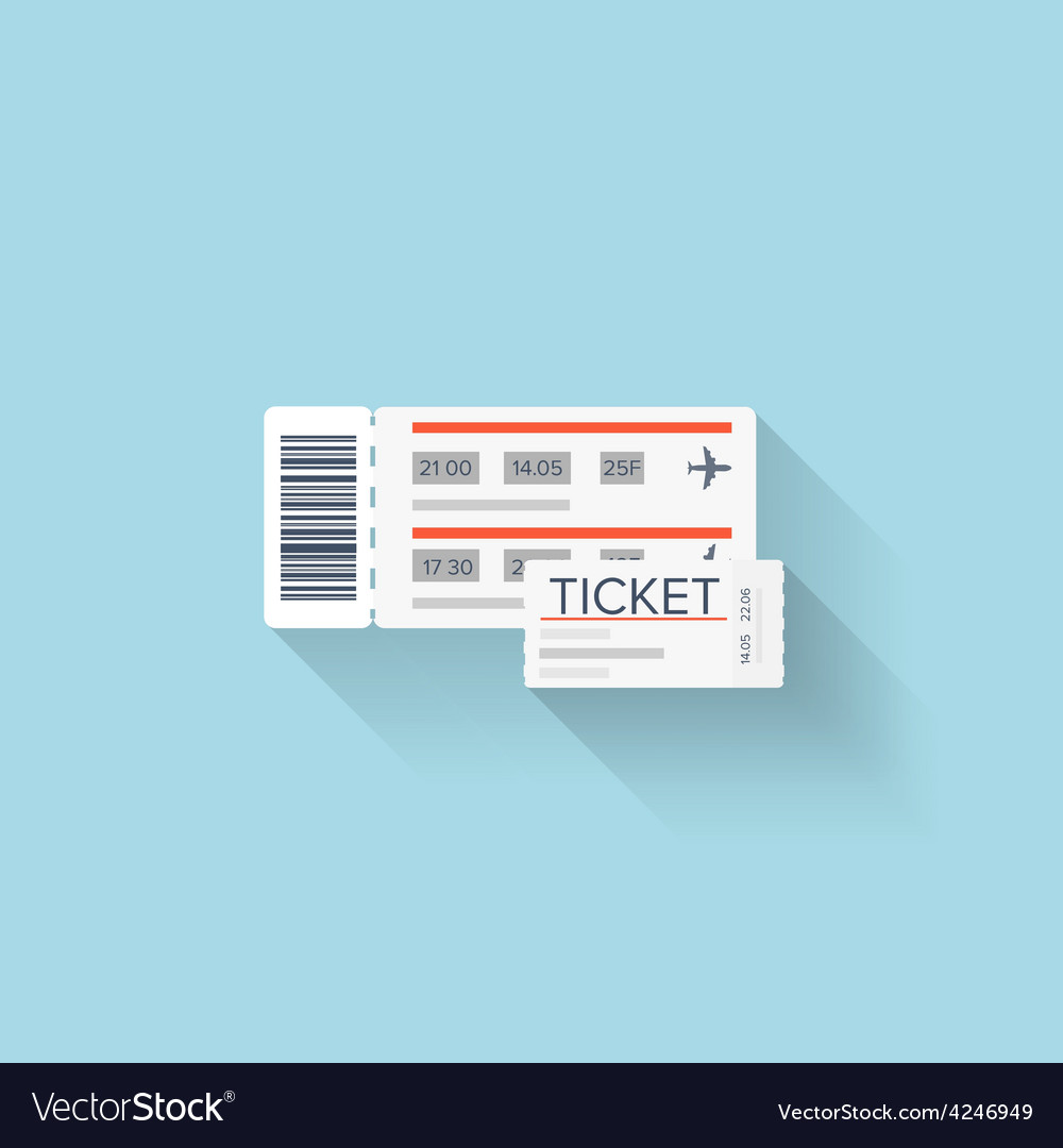 Flat web icon paper ticket vector | Price: 1 Credit (USD $1)