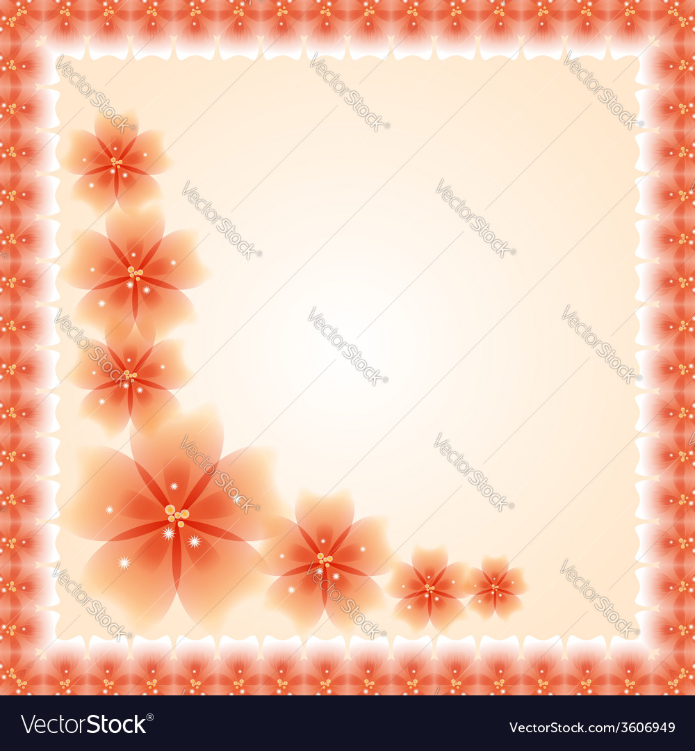 Floral pattern fine greeting card eps10 vector | Price: 1 Credit (USD $1)