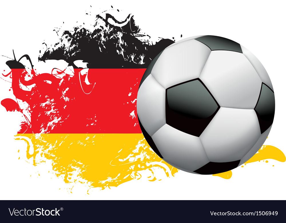 Germany soccer grunge vector | Price: 1 Credit (USD $1)