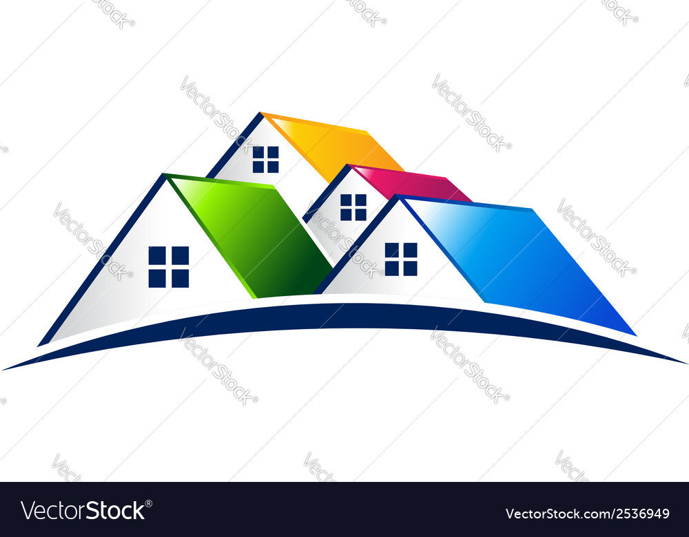 Neighborhood houses real estate concept logo vector