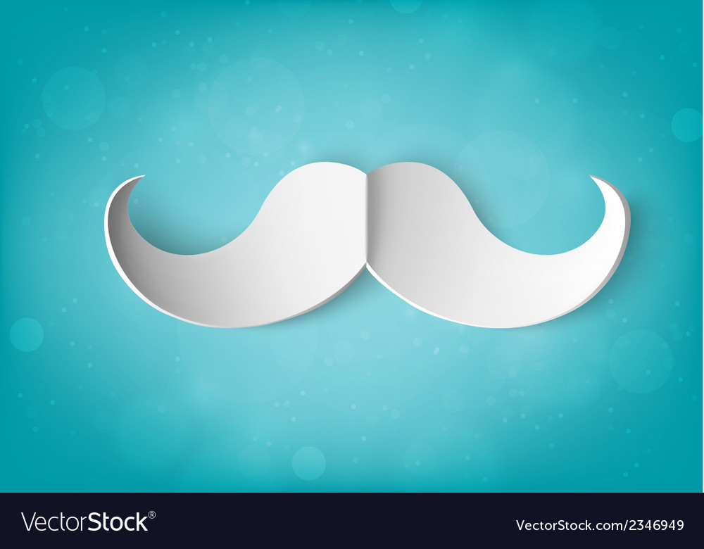 Paper mustache vector | Price: 1 Credit (USD $1)