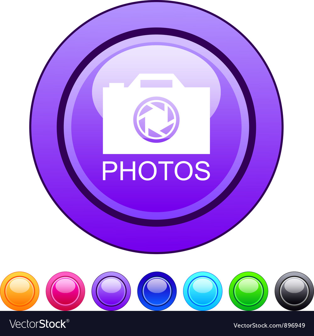 Photos circle button vector | Price: 1 Credit (USD $1)