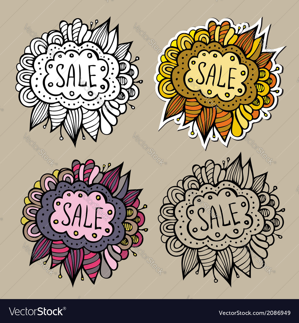 Set of sale nature labels vector | Price: 1 Credit (USD $1)