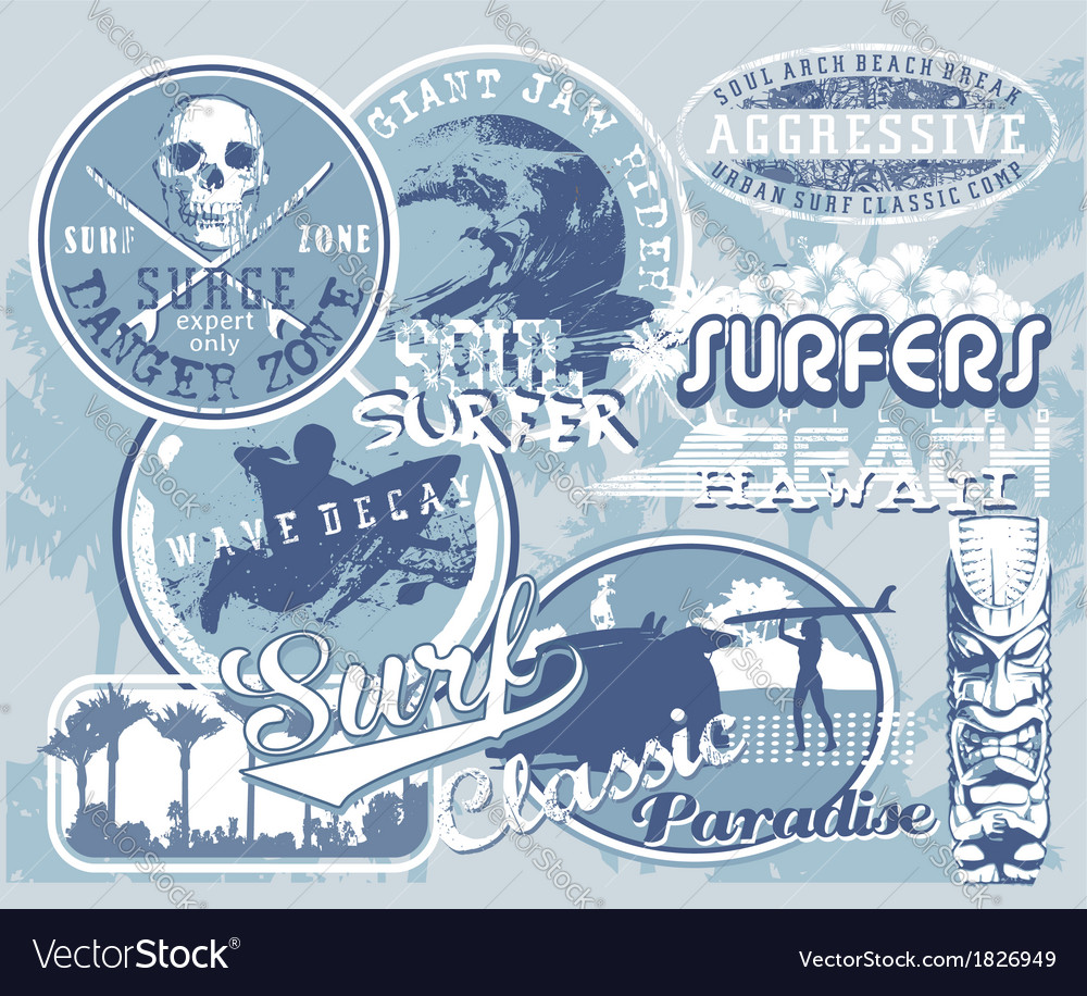 Surf hawaii wave vector | Price: 1 Credit (USD $1)