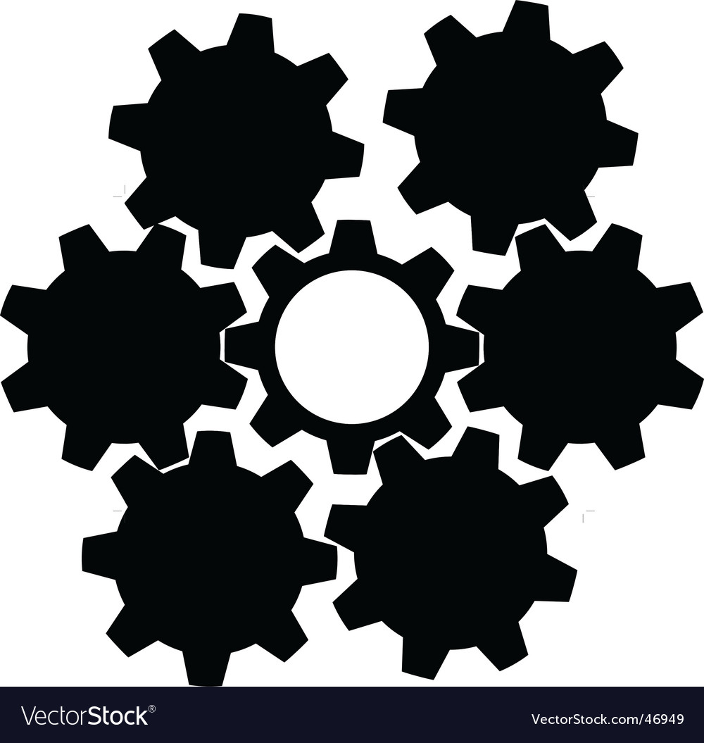 Technology gears background vector | Price: 1 Credit (USD $1)