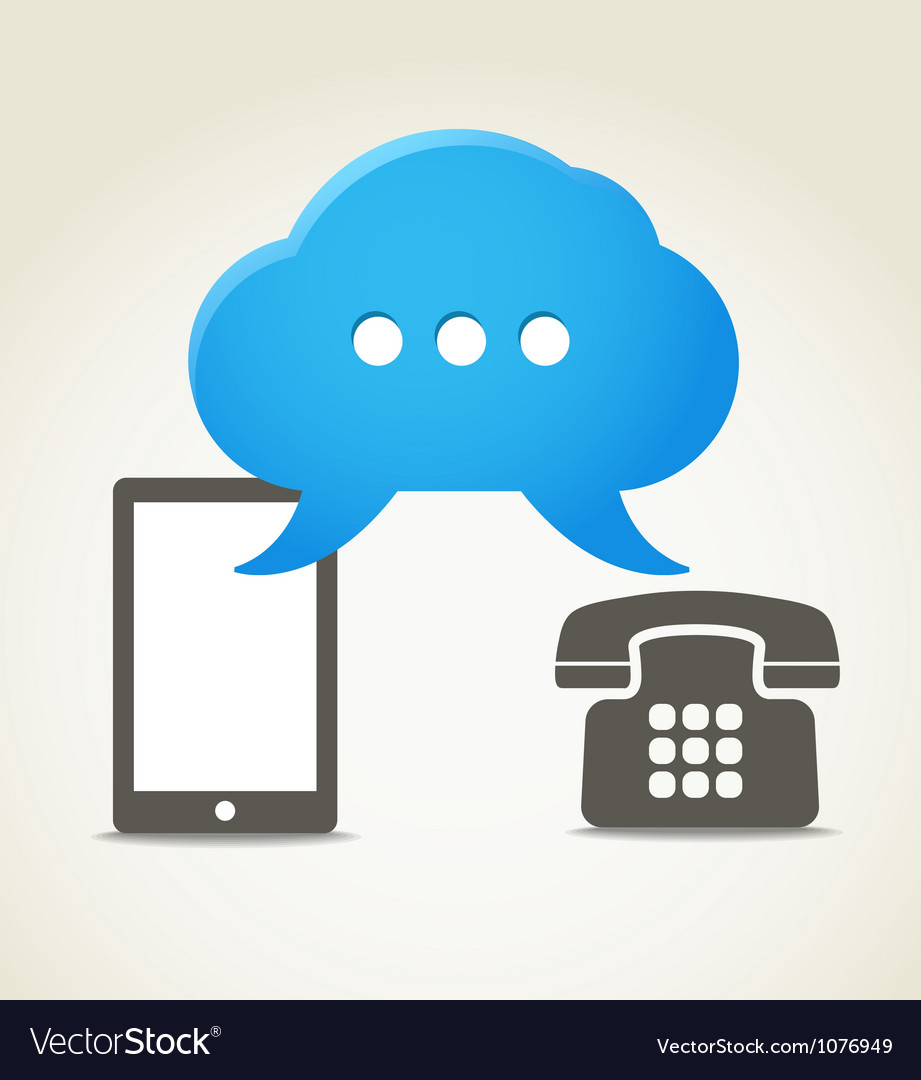 Two phones with speech clouds vector | Price: 1 Credit (USD $1)