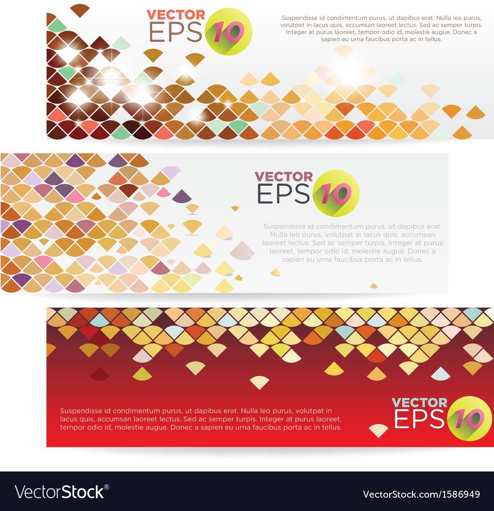 V 000078 colorful grid banner vector | Price: 1 Credit (USD $1)