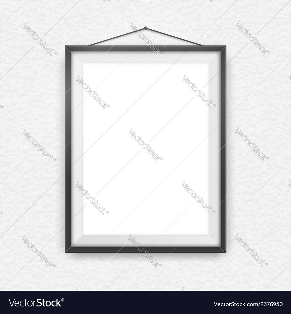Black picture frame on a wall vector | Price: 1 Credit (USD $1)