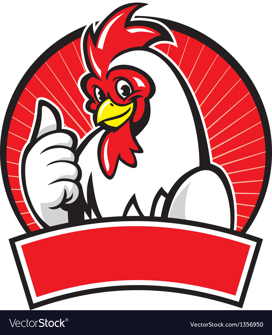 Chicken mascot with thumb up vector | Price: 1 Credit (USD $1)