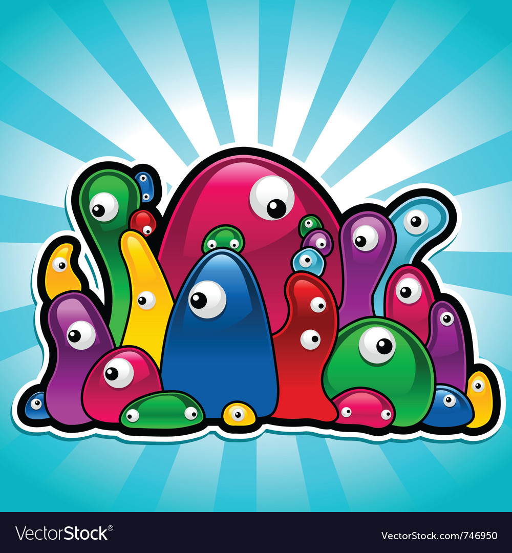 Colorful slimy party vector | Price: 1 Credit (USD $1)