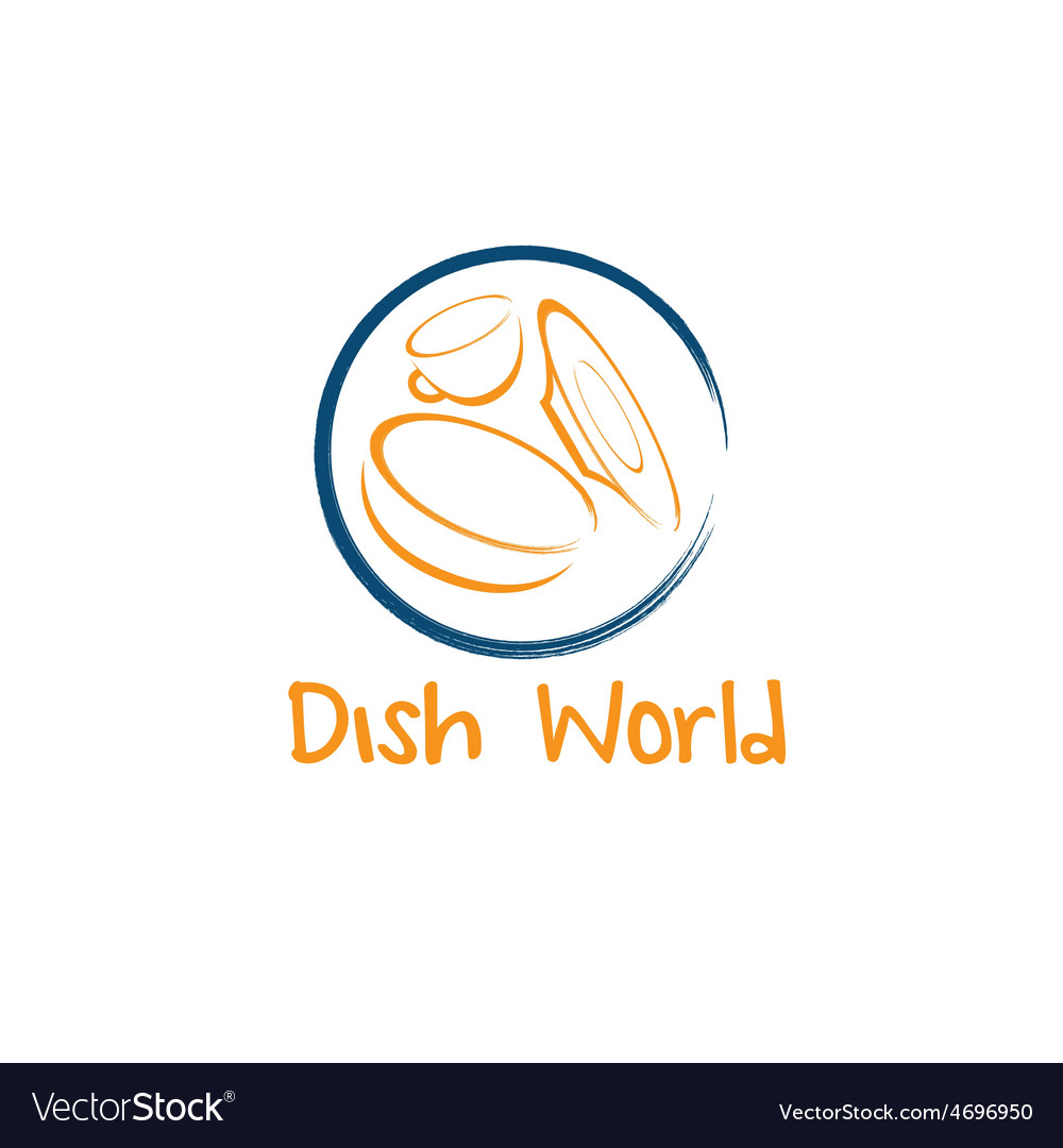 Dish world concept design template vector | Price: 1 Credit (USD $1)