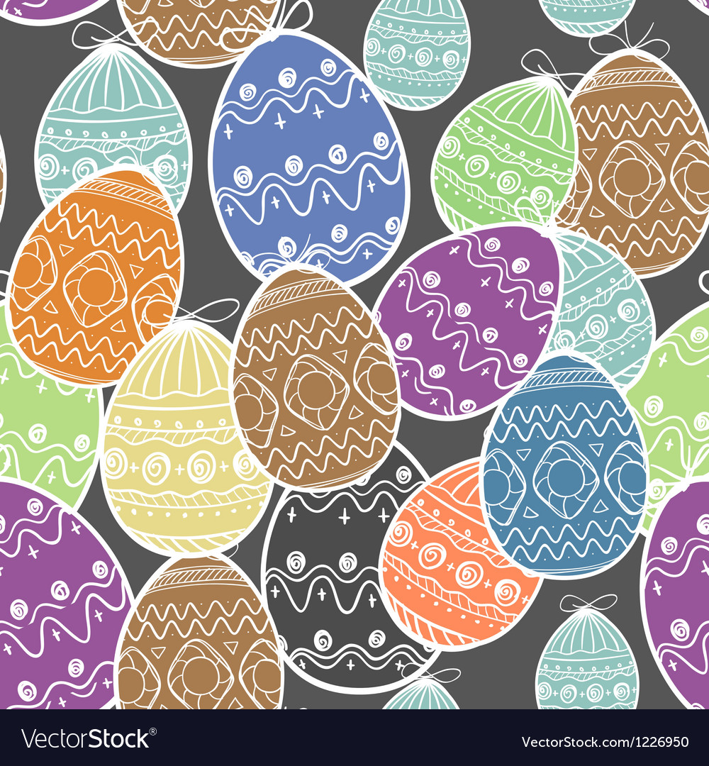 Easter eggs seamless background vector | Price: 1 Credit (USD $1)