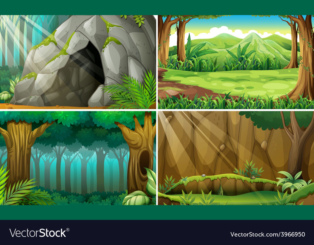 Forest scene vector | Price: 3 Credit (USD $3)