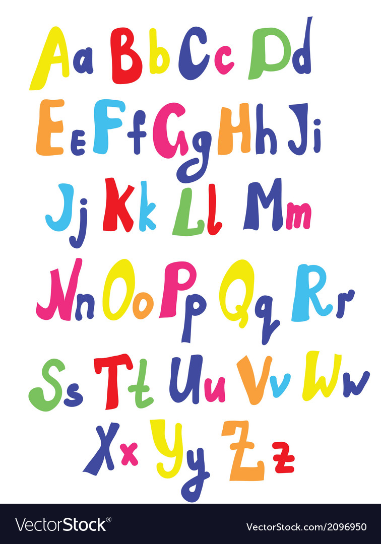 Funny font for kids vector | Price: 1 Credit (USD $1)