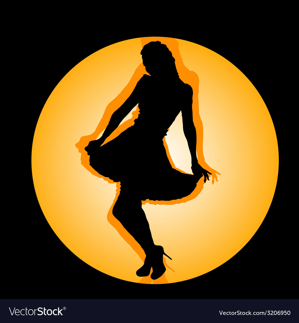 Girl in the hole black silhouette vector   Price: 1 Credit (USD $1)