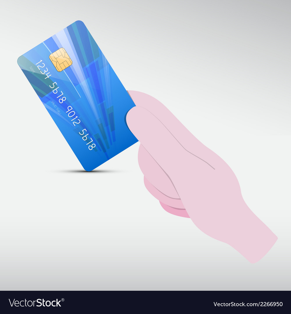 Hand holding blue credit card vector | Price: 1 Credit (USD $1)