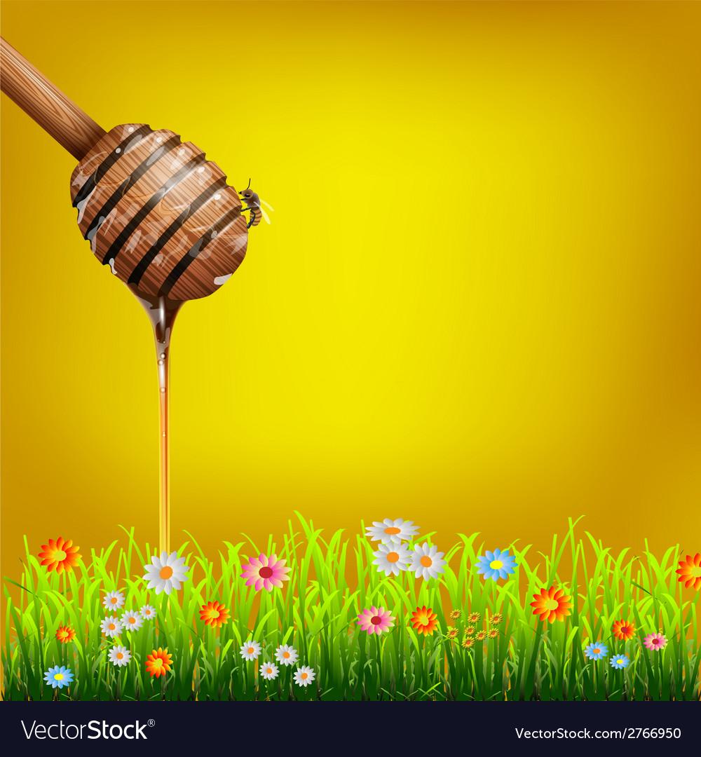 Honey dipper vector | Price: 1 Credit (USD $1)