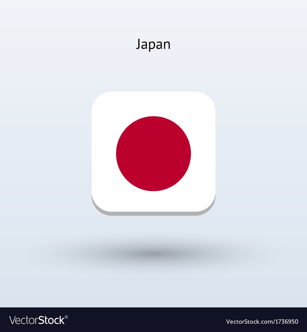Japan flag icon vector | Price: 1 Credit (USD $1)