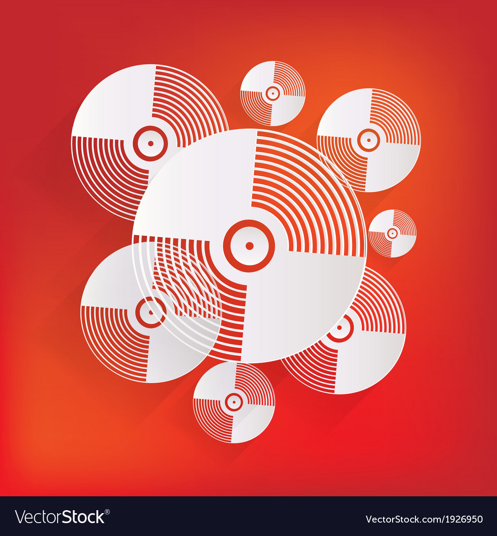Music vinyl disk iconflat design vector | Price: 1 Credit (USD $1)