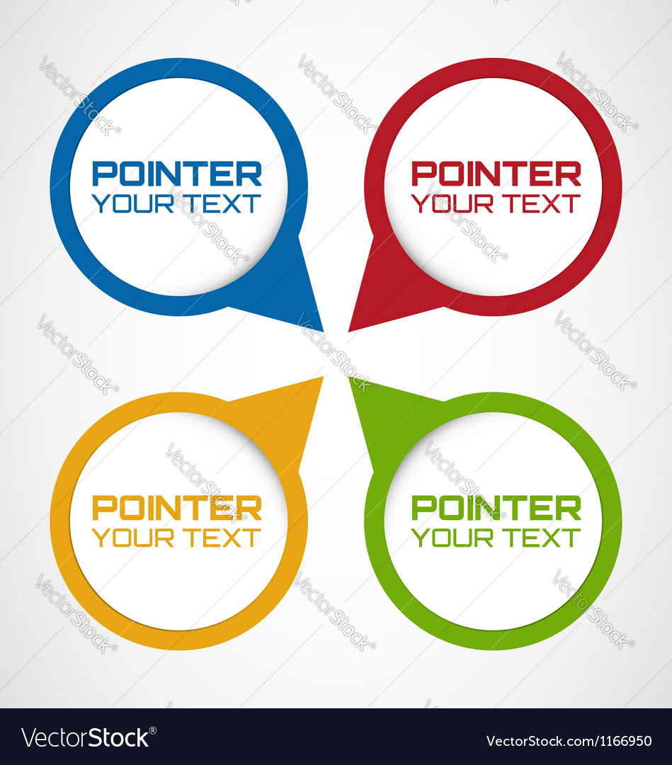 Pointers vector | Price: 1 Credit (USD $1)