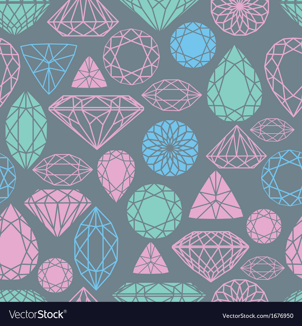 Seamless diamond pattern vector | Price: 1 Credit (USD $1)