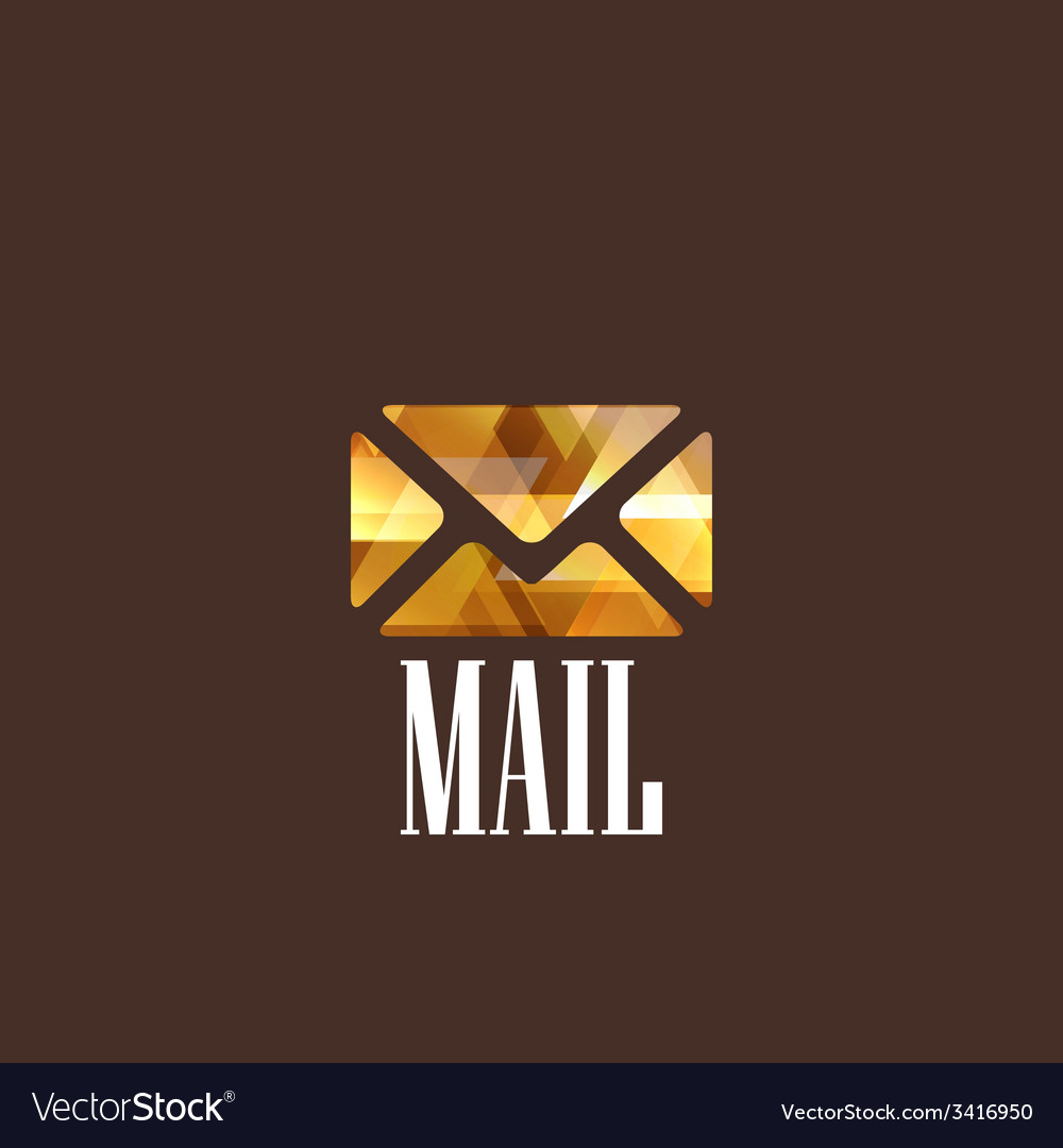 With diamond mail icon vector | Price: 1 Credit (USD $1)