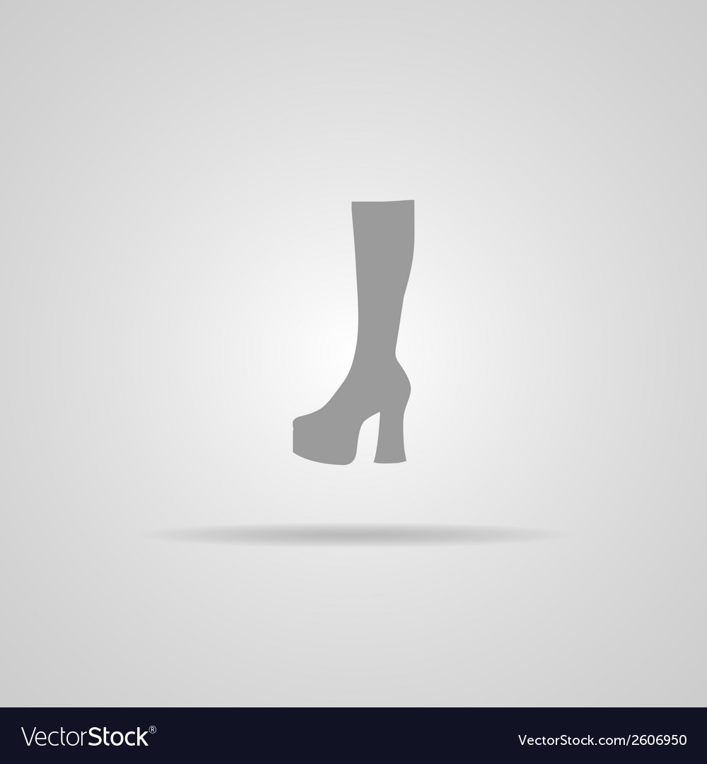 Woman hessian boots icon vector | Price: 1 Credit (USD $1)