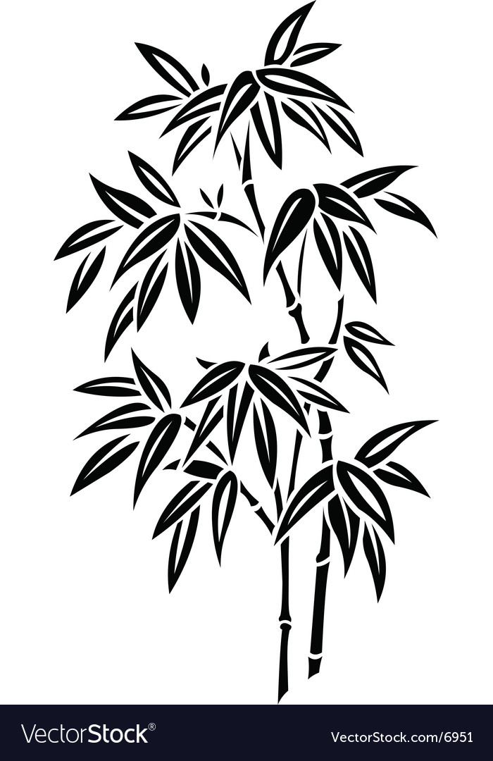Bamboo silhouette vector | Price: 1 Credit (USD $1)