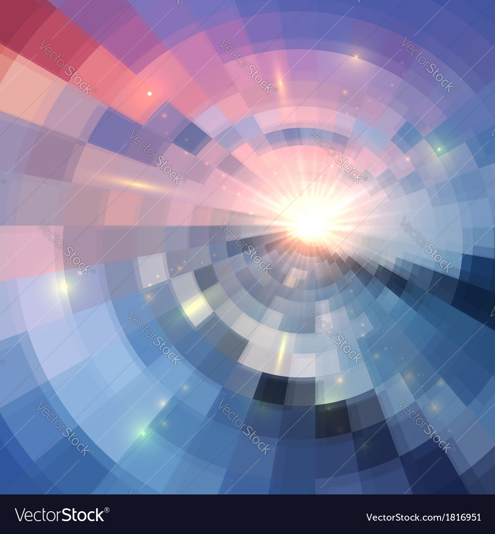 Blue winter sunshine in mosaic glass window vector | Price: 1 Credit (USD $1)
